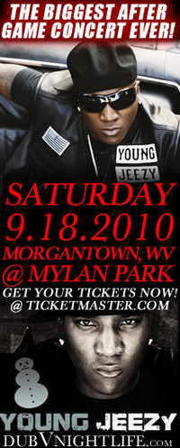 Young Jeezy … LIVE IN MORGANTOWN! After Game Party!
