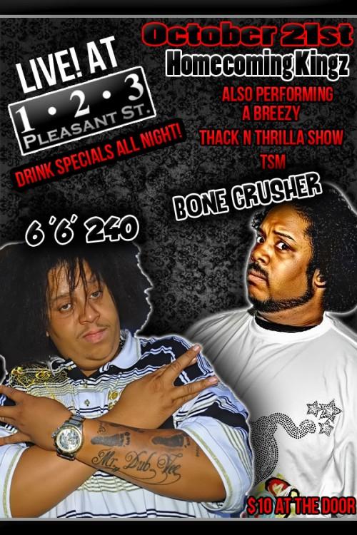 Bonecrusher & Soundvizion @ 123 – Live Hip Hop!