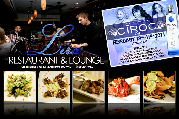 Rock out with your Ciroc out! – WEEKEND PARTY  Lira Restaurant Morgantown