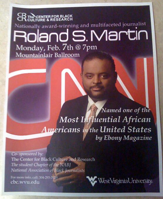 CNN's Roland S. Martin @ WVU Mountainlair – Morgantown, WV