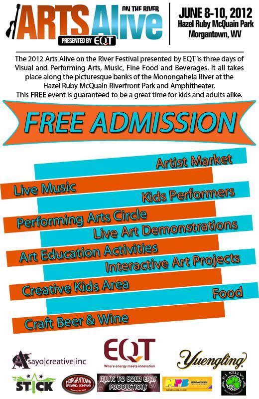 Arts Alive on the River - Morgantown, WV