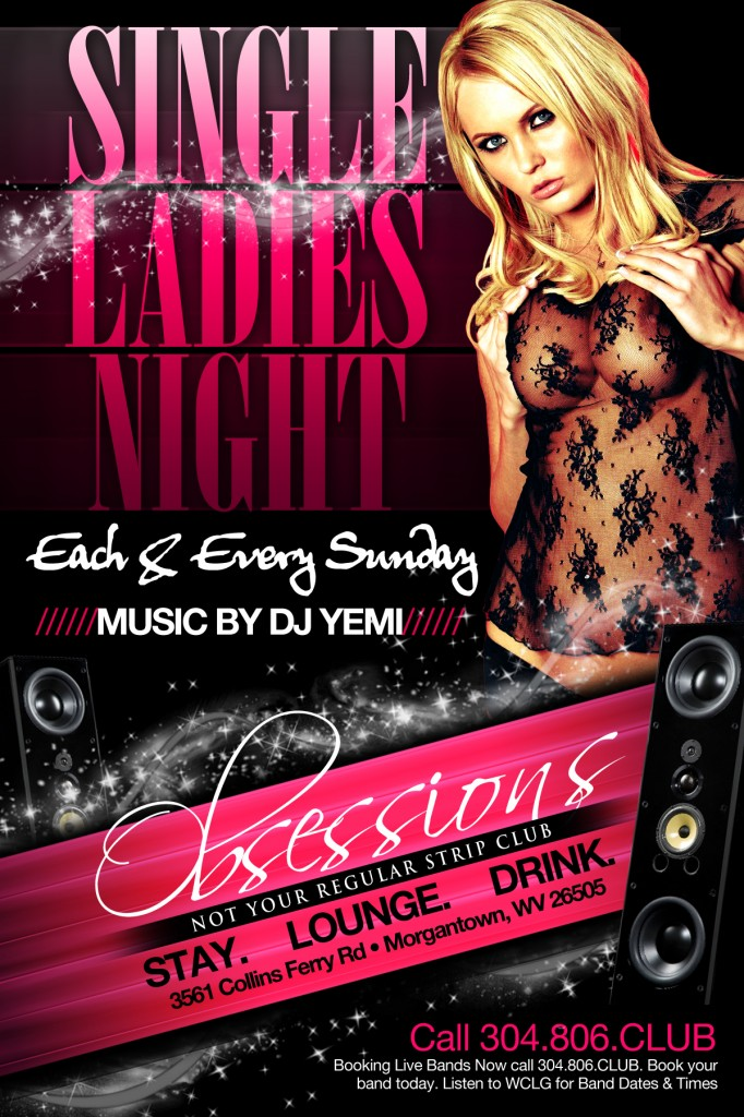 MUSIC BY DJ YEMI  |  SINGLE LADIES NIGHT @ CLUB OBSESSIONS – SUNDAYS