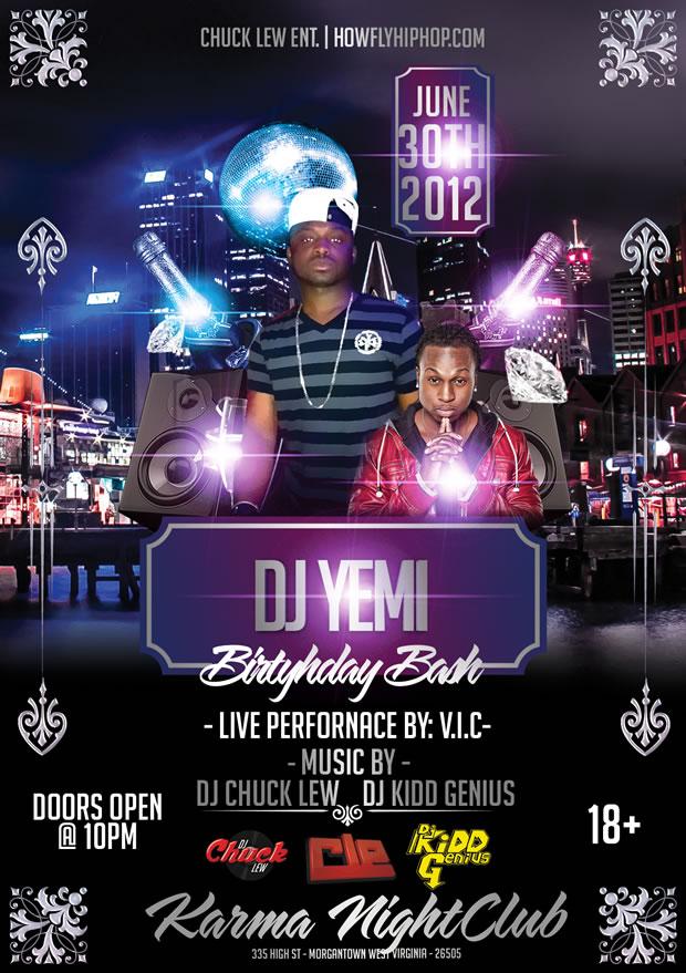 dj yemi bday bash june 30 karma night club live performance by