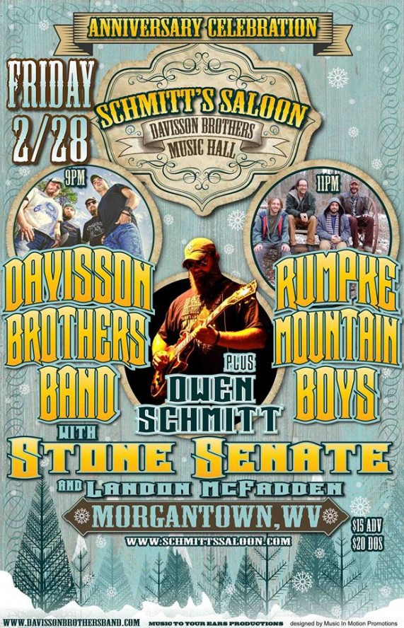 1 Year Anniversary Party w/ Davisson Brothers Band and Rumpke Mountain Boys – FEB 28th