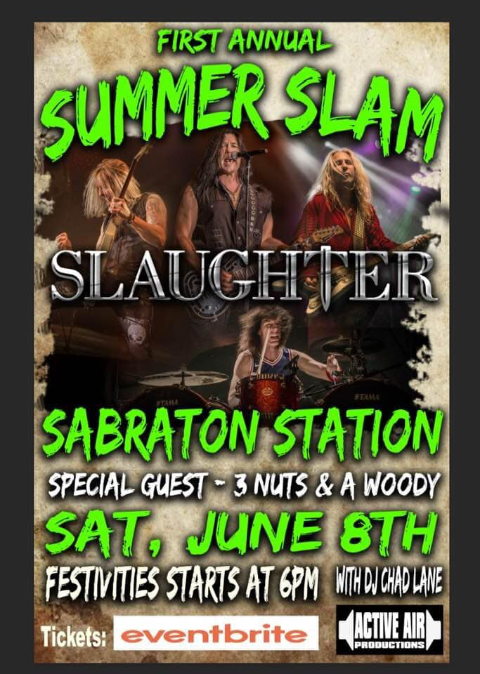 Morgantown Summer Slam – Saturday June 8th